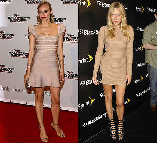 Photos of Diane Kruger and Chloe Sevigny in Nude Dresses