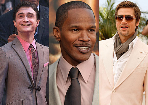 Men in Pink, Photos of Brad Pitt, Jamie Foxx and Daniel Radcliffe
