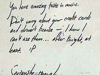 Burn! Car Burglar Leaves Note Praising Music Tastes