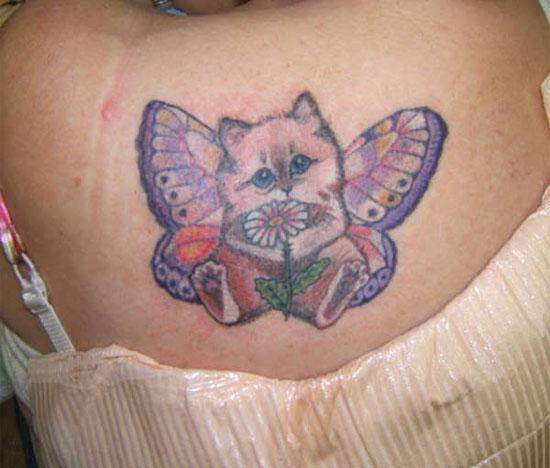 Kitten + Flower + Wings + Pants =