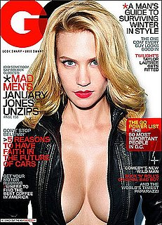January Jones in GQ on Ex Boyfriend Ashton Kutcher