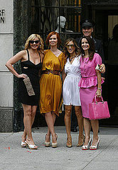 Cast on the set of the''Sex and the City 2''