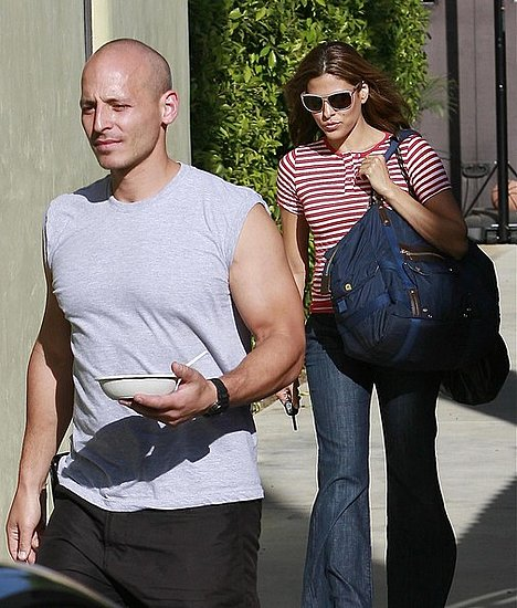 Eva Mendes leaves a gym in West Hollywood