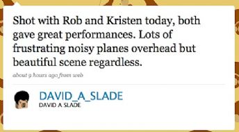 Eclipse Director, David Slade, Reports on Rob &amp; Kristen Scene !