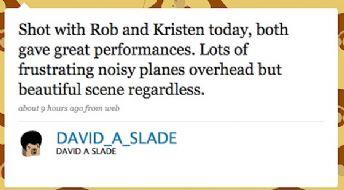 Eclipse Director, David Slade, Reports on Rob & Kristen Scene !