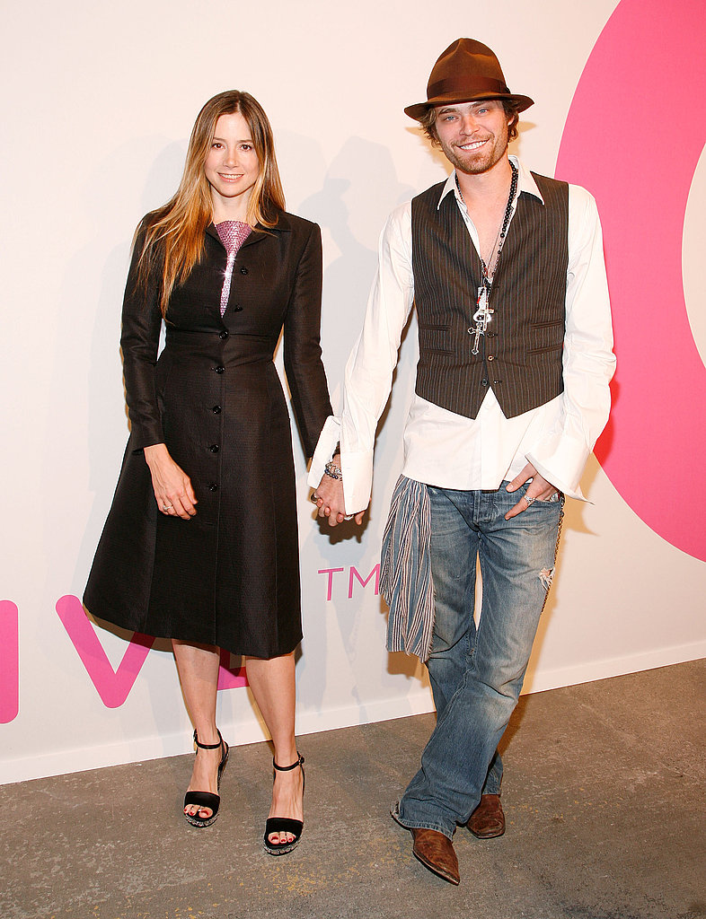 Mira Sorvino and Christopher Backus