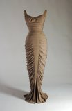"""La Sirene"" body hugging nude Charles James gown"