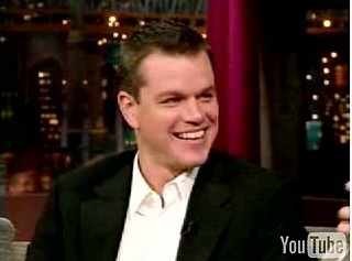 Matt Damon (or Matt McConaughey?) on Letterman