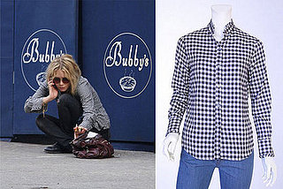Found! Mary-Kate Olsen's Steven Alan Flannel Ruffle Shirt