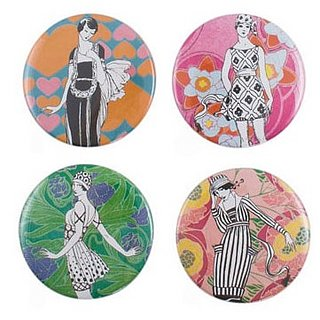 Fabworthy: Mod Girl Mini Mirrors