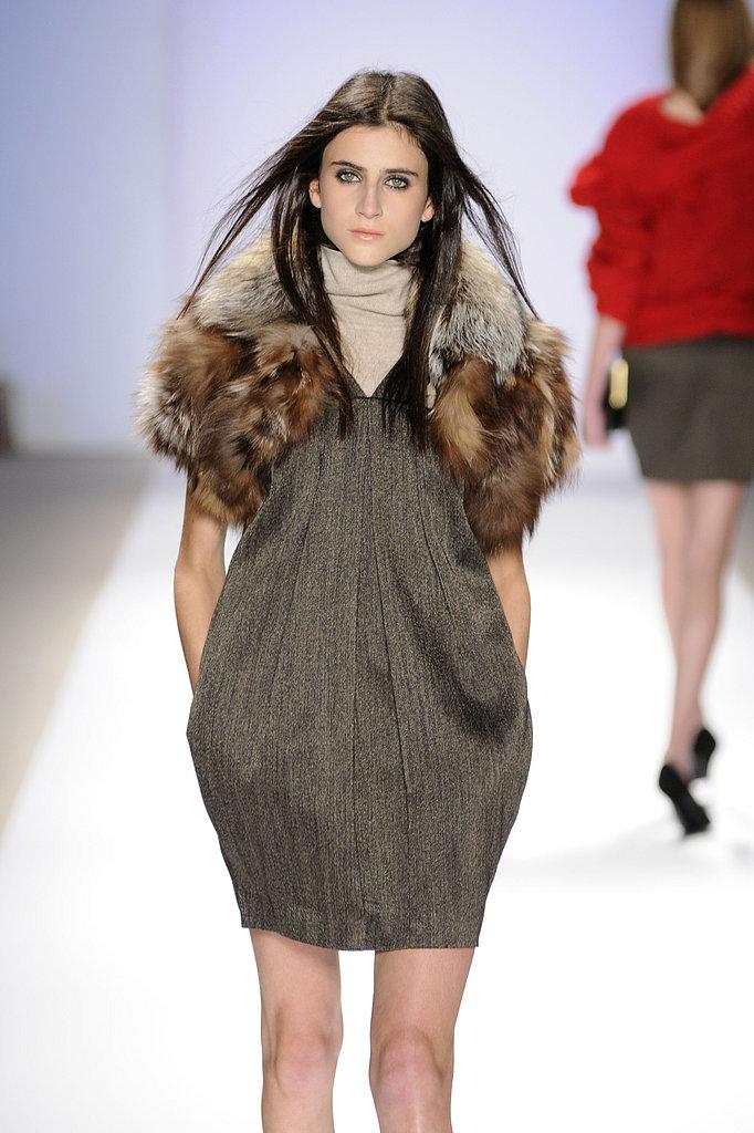 Furry Sleeves at Carlos Miele