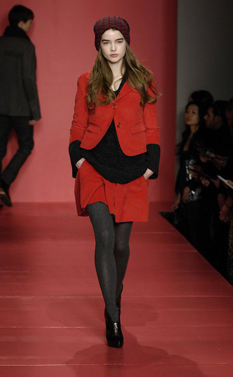 Cropped Red Sleeves at DKNY