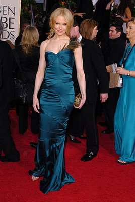 Nicole Kidman Looking Like a Gorgeous Peacock in 2005