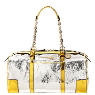 Guess Who Designed This Bold Metallic Duffle?
