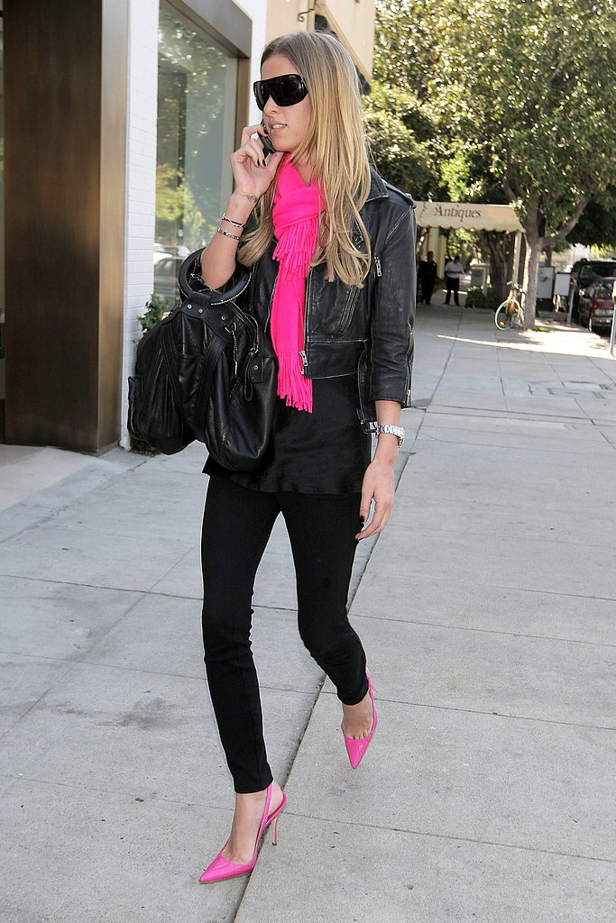 Her Obsession: Nicky Hilton Hearts Hot Pink and Black
