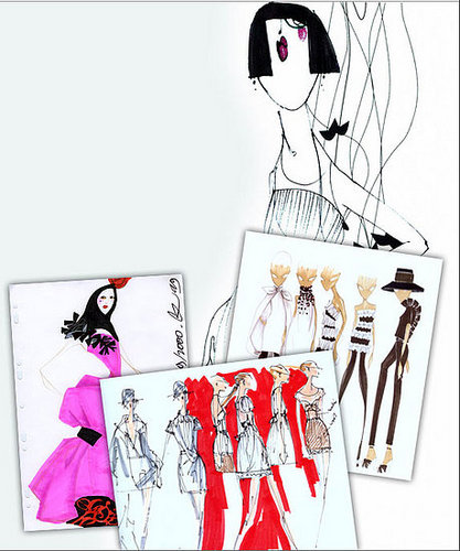 On Our Radar: Style.com Auctions Fashion Illustrations
