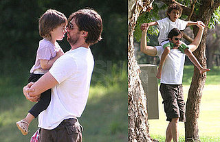 Hugh Jackman Pulls Daddy Duty