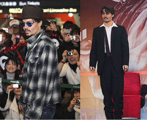 Johnny Depp at Sweeney Todd Premiere in Japan