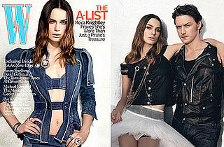 Keira Knightley and James McAvoy of Atonement on the Cover of W Magazine