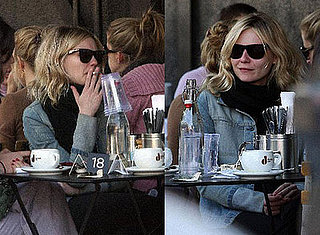 Kirsten Dunst Goes With a Liquid (and Smoke) Lunch