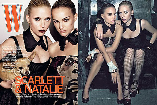 Natalie Portman and Scarlett Johansson For W Magazine
