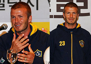 David Beckham and the LA Galaxy in Seoul, South Korea