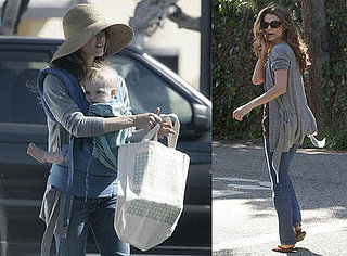 Keri Russell and River Deary Running Errands in LA