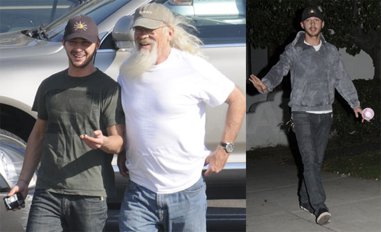 Shia labeouf and his dad popsugar celebrity