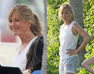 Aniston Works Hard for The Bikini Body, On Screen and Off