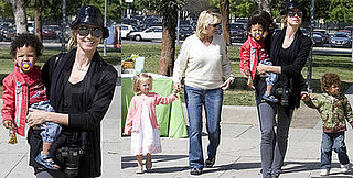 Heidi Klum Takes Her Kids to the Natural History Museum in LA