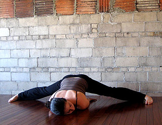 Yoga Pose of the Week: Wide-Legged Forward Bend E