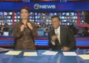News Anchor Caught With Her Hand Down Her Shirt