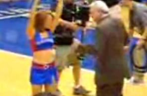 "Richard ""Digger"" Phelps Dancing With a Cheerleader"