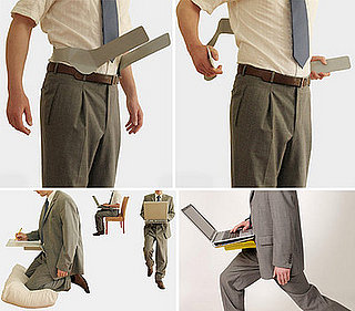 Hip Desk Attaches Your Laptop To Your Body