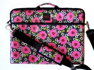 Floral Flicka Brief Bags For Laptops