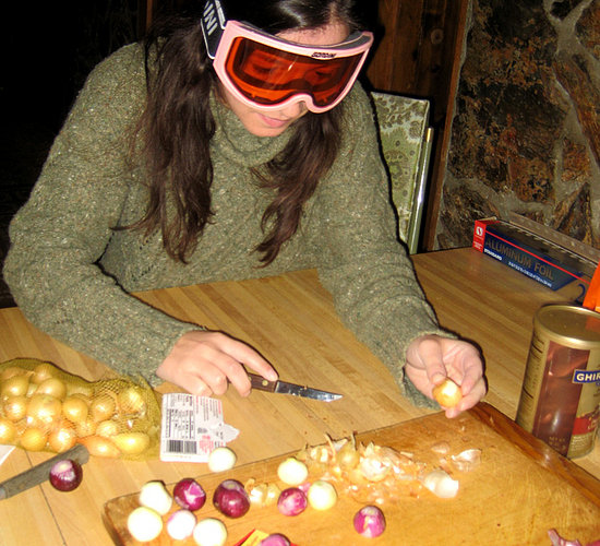 Use Goggles When Cutting Onions