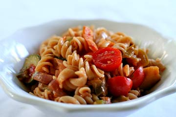 Primavera — which means Spring — is such a wonderfully seasonal dish consisting of pasta and fresh vegetables.