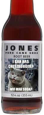 Jones Soda and LOL Cats Team Up to Create LOL Cats Soda 2008-03-27 16:21:31