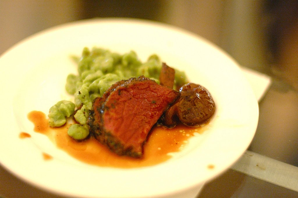 Roast bison loin, Cioppolini onions and Herbed Spätzle courtesy of Gary Danko