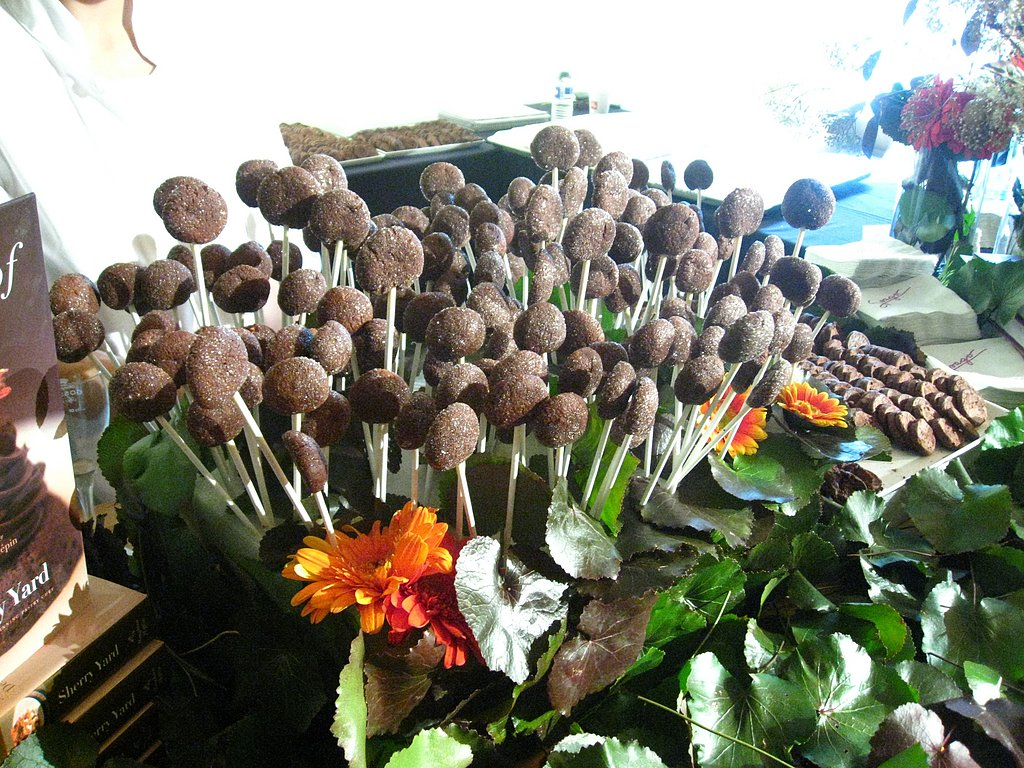 Chocolate Almond Cookie Pops from Sherry Yard