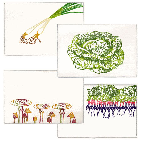 Vegetable Note Cards