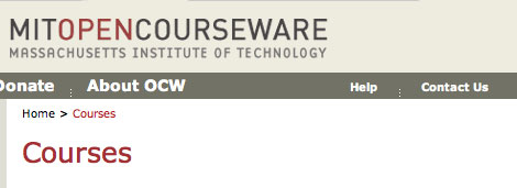 MIT OpenCourseWare Quenches Your Thirst For Knowledge