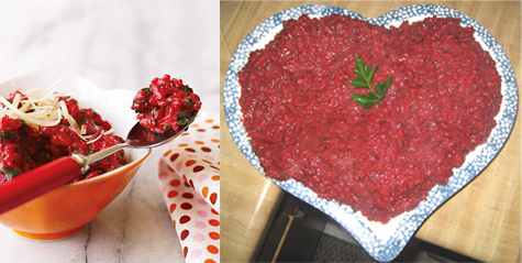 Theirs vs. Mine: Beet and Cheddar Risotto