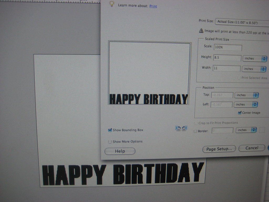My Half Birthday Invite: Step by Step