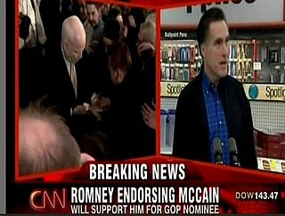 Headline: Mitt Romney Set to Endorse John McCain