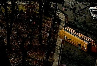 Headline: School Bus Overturned in Maryland