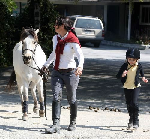 Patrick Dempsey and Daughter Tallulah Horsin' Around
