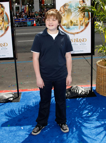 Angus Jones attended the Nim's Island premiere.