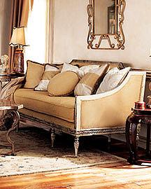 Golden Settee?-? Settees & Chaise?-? Neiman Marcus