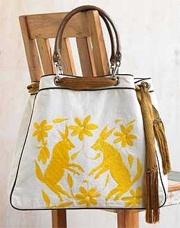 VivaTerra - Hand-Embroidered Organic Cotton Rabbit Bag